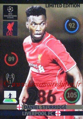 2014-15 - Adrenalyn XL champions League N° LE-DS - Daniel STURRIDGE (Liverpool FC) (Limited Edition)