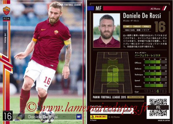 Panini Football League 2015 - PFL12 - N° 019 - Daniele DE ROSSI (AS Roma)