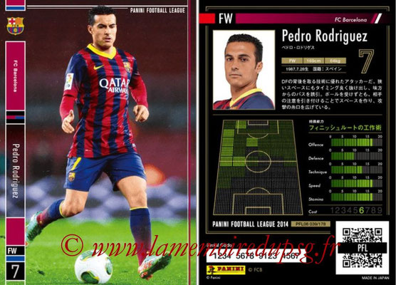 Panini Football League 2014 - PFL08 - N° 039 - Pedro RODRIGUEZ (FC Barcelone)