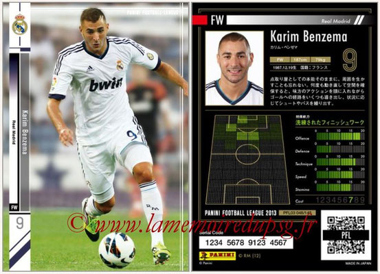 Panini Football League 2013 - PFL03 - N° 048 - Karim Benzema (Real Madrid)