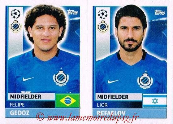 2016-17 - Topps UEFA Champions League Stickers - N° BRU 14-15 - Lior RAFAELOV + Felipe GEDOZ (Club Bruges)