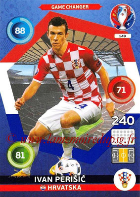 Panini Euro 2016 Cards - N° 149 - Ivan PERISIC (Croatie) (Game Changer)
