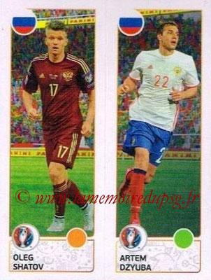 Panini Euro 2016 Stickers - N° 160 - Oleg SHATOV + Artem DZYUBA (Russie)