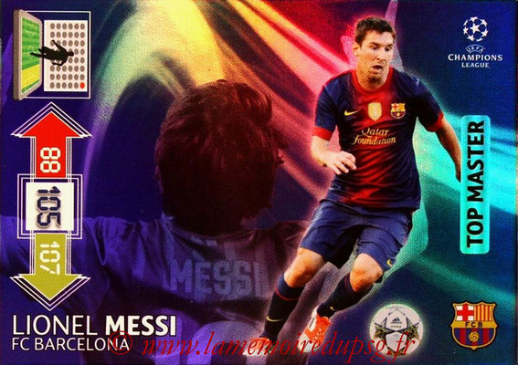 2012-13 - Adrenalyn XL champions League N° 346 - Lionel MESSI (FC Barcelone) (Top Master)