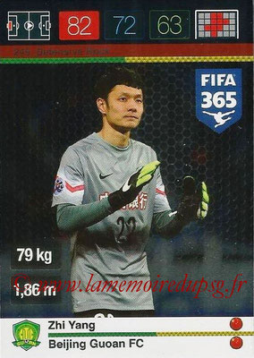2015-16 - Panini Adrenalyn XL FIFA 365 - N° 249 - Zhi YANG (Beijing Guoan FC) (Defensive Rock)