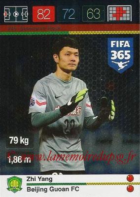 2015-16 - Panini Adrenalyn XL FIFA 365 - N° 249 - Zhi YANG (Beijing Guoan FC) (Defensive Rock)