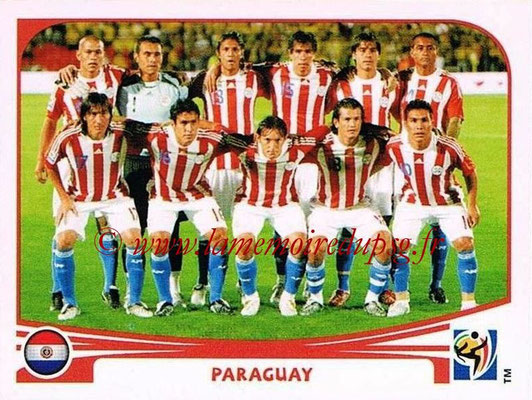 2010 - Panini FIFA World Cup South Africa Stickers - N° 429 - Équipe Paraguay