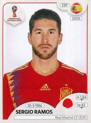 2018 - Panini FIFA World Cup Russia Stickers - N° 139 - Sergio RAMOS (Espagne)