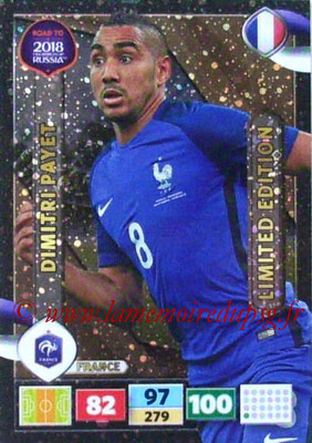 2018 - Panini Road to FIFA World Cup Russia Adrenalyn XL - N° LE-DP - Dimitri PAYET (France) (Limited Edition)