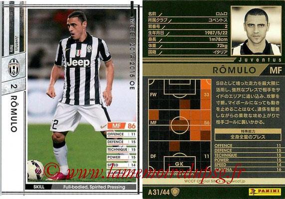 2013-14 - WCCF - N° A31 - ROMULO (Juventus FC)