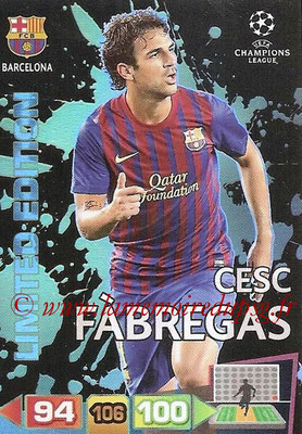 2011-12 - Panini Champions League Cards - N° LE07 - Cesc FABREGAS (FC Barcelone) (Limited Editon)