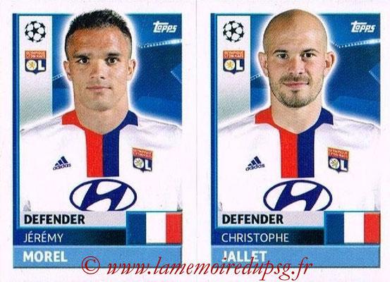 2016-17 - Topps UEFA Champions League Stickers - N° LYO 6-7 - Christophe JALLET + Jérémy MOREL (Olympique Lyonnais)