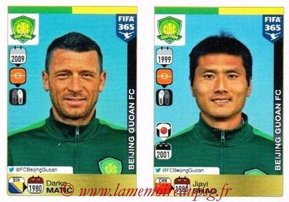 2015-16 - Panini FIFA 365 Stickers - N° 262-266 - Darko MATIC + Jiayi SHAO (Beijing Guoan FC)
