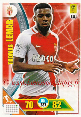 2017-18 - Panini Adrenalyn XL Ligue 1 - N° 188 - Thomas LEMAR (Monaco)