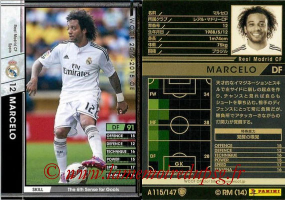 2014-15 - WCCF - N° A115 - MARCELO (Real Madrid CF)