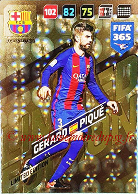 2017-18 - Panini FIFA 365 Cards - N° LE-GP - Gerard PIQUE (FC Barcelone) (Limited Edition)