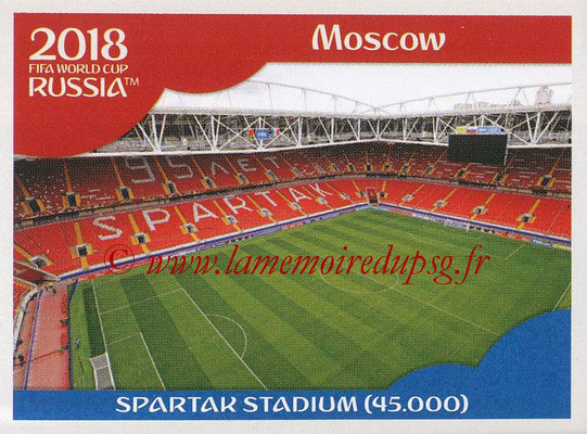2018 - Panini FIFA World Cup Russia Stickers - N° 011 - Spartak Stadium, Moscou (Stades et Villes)