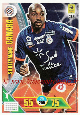 2017-18 - Panini Adrenalyn XL Ligue 1 - N° 215 - Souleymane CAMARA (Montpellier)