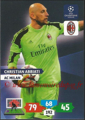 2013-14 - Adrenalyn XL champions League N° 181 - Christian ABBIATI (AC Milan)