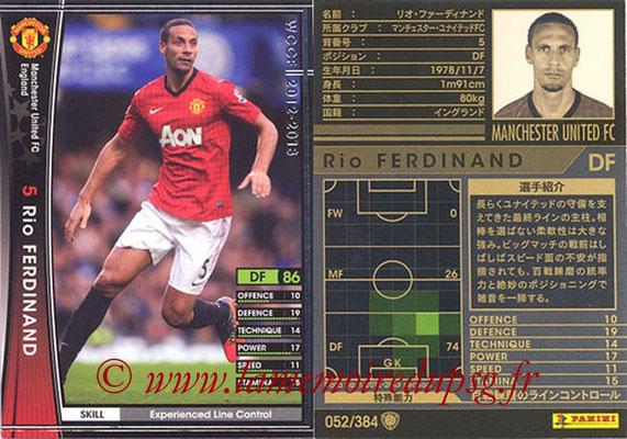 2012-13 - WCCF - N° 052 - Rio FERDINAND (Manchester United FC)