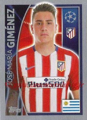 2015-16 - Topps UEFA Champions League Stickers - N° 179 - José Maria GIMENEZ (Club Atlético de Madrid)