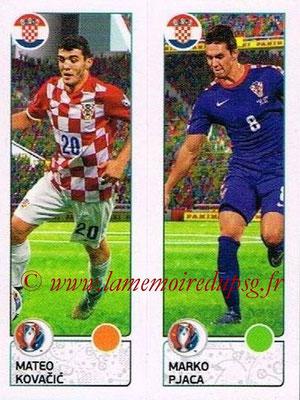Panini Euro 2016 Stickers - N° 435 - Mateo KOVACIC + Marko PJACA (Croatie)