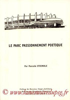 2002-07-XX - Le parc passionnement Poétique (Granguillot & Compagnie, tiré à 2 000 exemplaires, 90 pages)