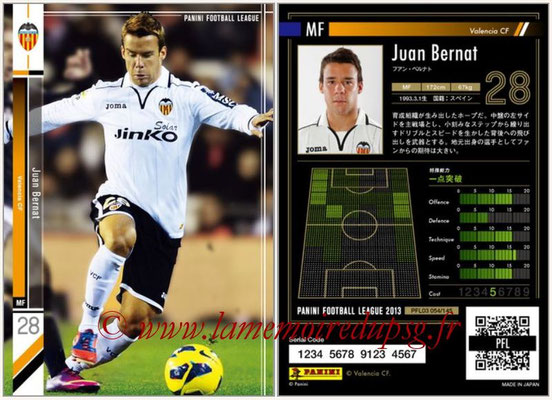 Panini Football League 2013 - PFL03 - N° 054 - Juan Bernat (FC Valence)