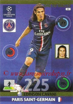 2014-15 - Adrenalyn XL champions League N° 205 - Edinson CAVANI (Paris Saint-Germain) (One to watch)
