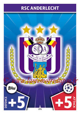 2017-18 - Topps UEFA Champions League Match Attax - N° 271 - Logo RCS Anderlecht (Club Badge)