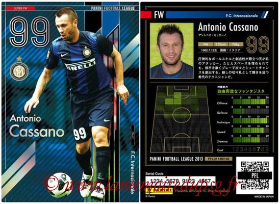 Panini Football League 2013 - PFL02 - N° 146 - Antonio Cassano ( F.C. Internazionale ) (Super FW)