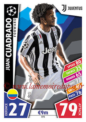 2017-18 - Topps UEFA Champions League Match Attax - N° 375 - Juan CUADRADO (Juventus)
