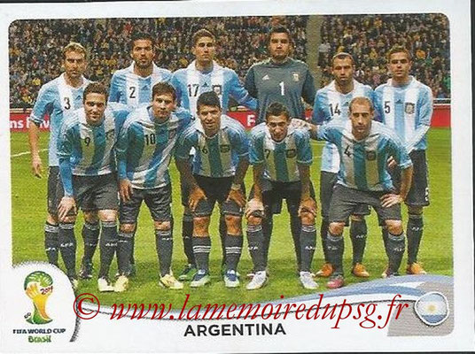 2014 - Panini FIFA World Cup Brazil Stickers - N° 413 - Equipe Argentine