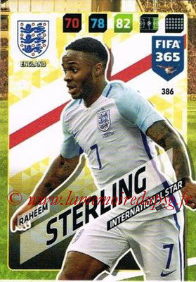 2017-18 - Panini FIFA 365 Cards - N° 386 - Raheem STERLING (Angleterre) (International Star)