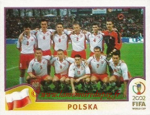 2002 - Panini FIFA World Cup Stickers - N° 259 - Equipe Pologne