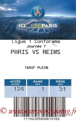 Tickets  PSG-Stade Reims  2018-19