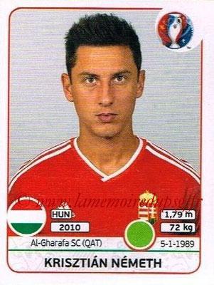 Panini Euro 2016 Stickers - N° 676 - Krisztian NEMETH (Hongrie)