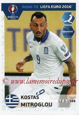 Panini Road to Euro 2016 Stickers - N° 128 - Kostas MITROGLOU (Grèce)