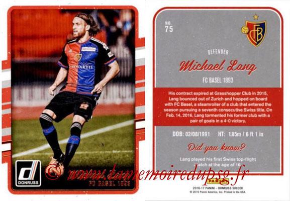 2016 - Panini Donruss Cards - N° 075 - Mickael LANG (FC Bâle)
