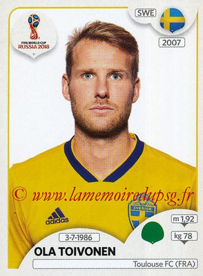 2018 - Panini FIFA World Cup Russia Stickers - N° 491 - Ola TOIVONEN (Suede)