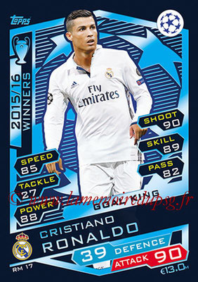 2016-17 - Topps UEFA Champions League Match Attax - N° RM17 - Cristiano RONALDO (Real Madrid CF) (Goal King)