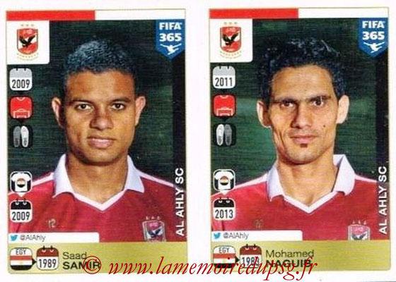 2015-16 - Panini FIFA 365 Stickers - N° 284-285 - Saad SAMIR + Mohamed NAGUIB (Al Ahly SC)