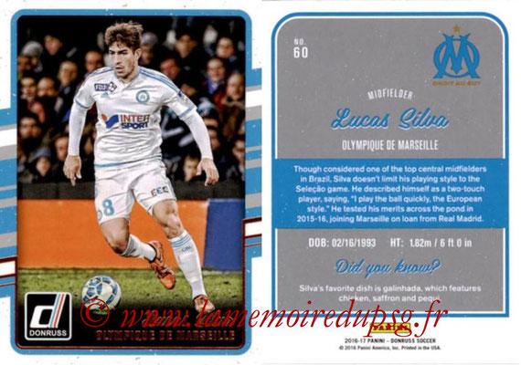 2016 - Panini Donruss Cards - N° 060 - Lucas SILVA (Olympique de Marseille)