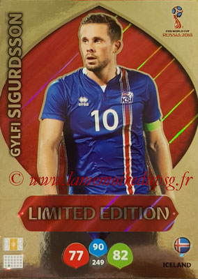 2018 - Panini FIFA World Cup Russia Adrenalyn XL - N° LE-GS - Gylfi SIGURDSSON (Islande) (Limited Edition)