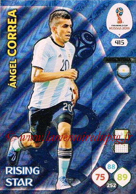 2018 - Panini FIFA World Cup Russia Adrenalyn XL - N° 415 - Angel CORREA (Argentine) (Rising Star)