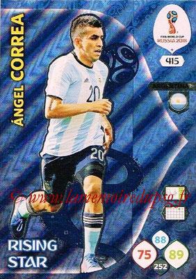 2018 - Panini FIFA World Cup Russia Adrenalyn XL - N° 415 - Angel CORREA (Argentine) (Rising Star)