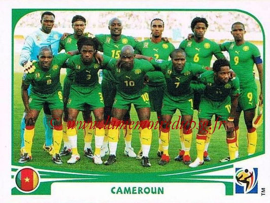 2010 - Panini FIFA World Cup South Africa Stickers - N° 391 - Équipe Cameroun