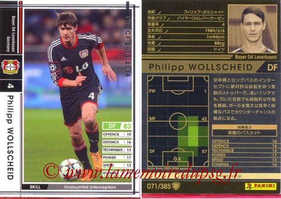 2013-14 - WCCF - N° 071 - Philipp WOLLSCHEID (Bayer 04 Leverkusen)