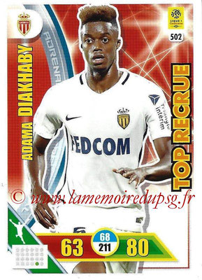 2017-18 - Panini Adrenalyn XL Ligue 1 - N° 502 - Adama DIAKHABY (Monaco) (Top Recrue)