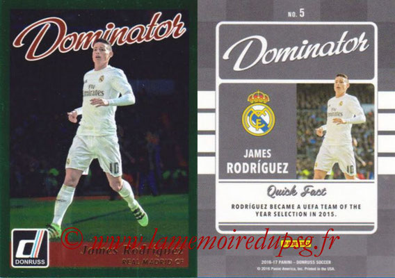 2016 - Panini Donruss Cards - N° D05 - James RODRIGUEZ (Real Madrid CF) (Dominator)